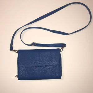 Blue women's purse/clutch